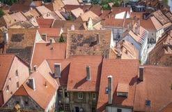 Οι στέγες της μεσαιωνικής πόλης Ptuj Στοκ Εικόνα