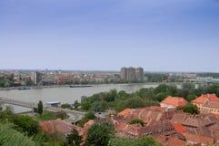 Οι στέγες της παλαιάς πόλης Petrovaradin στοκ εικόνα
