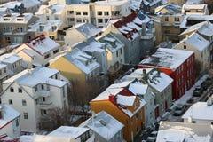 Οι στέγες του Ρέικιαβικ, Ισλανδία Στοκ Εικόνες