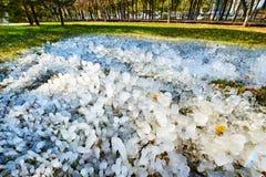 Οι στήλες πάγου Στοκ Φωτογραφία