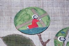 οι 3$οι σταθμοί του σταυρού, Ιησούς πέφτουν την πρώτη φορά Στοκ Εικόνα