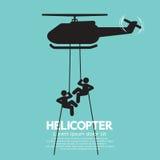 Οι στρατιώτες πηδούν από ένα ελικόπτερο Στοκ Εικόνες