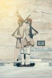 Οι στρατιώτες Evzone τιμούν τη φρουρά 2 Στοκ Εικόνα