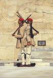 Οι στρατιώτες Evzone τιμούν τη φρουρά 5 Στοκ Φωτογραφίες