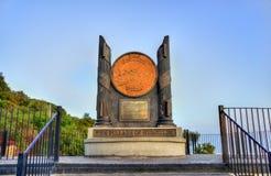 Οι στυλοβάτες του μνημείου Hercules στο Γιβραλτάρ Στοκ Εικόνες