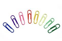 οι συνδετήρες χρωματίζουν το διαφορετικό έγγραφο Στοκ φωτογραφία με δικαίωμα ελεύθερης χρήσης
