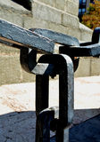 Οι συνδέσεις σε μια αλυσίδα Στοκ Εικόνα
