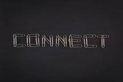 Οι συνδετήρες εγγράφου συνδέουν Στοκ φωτογραφία με δικαίωμα ελεύθερης χρήσης