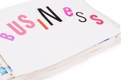 Οι συνδυασμένες εφημερίδες που απομονώνονται στο λευκό Στοκ φωτογραφίες με δικαίωμα ελεύθερης χρήσης