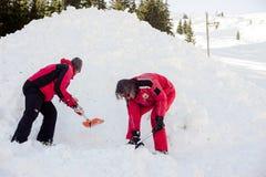 Οι σωτήρες στο βουνό διασώζουν την υπηρεσία Στοκ Εικόνα