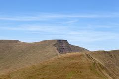 Οι Σύνοδοι Κορυφής του καλαμποκιού du και του ανεμιστήρα μανδρών Υ, αναγνωριστικά σήματα Brecon στοκ εικόνες