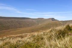 Οι Σύνοδοι Κορυφής του καλαμποκιού du και του ανεμιστήρα μανδρών Υ, αναγνωριστικά σήματα Brecon στοκ φωτογραφία
