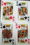 Οι τέσσερις βασιλιάδες των καρτών στοκ εικόνα