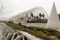 οι τέχνες μπορούν hemisferic λ les Palau reina πόλεων de επιστήμες να δουν τη Σόφια Βαλέντσια Ισπανία, Ευρώπη στοκ εικόνες με δικαίωμα ελεύθερης χρήσης
