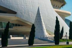 οι τέχνες μπορούν hemisferic λ les Palau reina πόλεων de επιστήμες να δουν τη Σόφια Αρχιτέκτονες Σαντιάγο Calatrava και καντέλα τ στοκ εικόνα με δικαίωμα ελεύθερης χρήσης