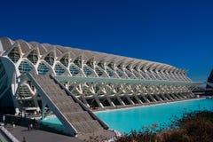 οι τέχνες μπορούν hemisferic λ les Palau reina πόλεων de επιστήμες να δουν τη Σόφια Αρχιτέκτονες Σαντιάγο Calatrava και καντέλα τ στοκ φωτογραφία