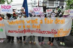 Οι εργαζόμενοι διαμαρτύρονται Στοκ Εικόνα