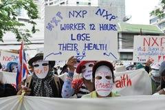 Οι εργαζόμενοι διαμαρτύρονται Στοκ εικόνες με δικαίωμα ελεύθερης χρήσης