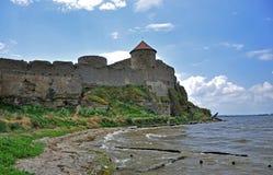 Οι τεράστιοι τοίχοι πετρών του αρχαίου φρουρίου Akkerman, belgorod-Dniester, περιο στοκ εικόνες