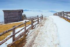 Οι τελευταίες ημέρες του χειμώνα στα βουνά της Ουκρανίας Στοκ φωτογραφία με δικαίωμα ελεύθερης χρήσης