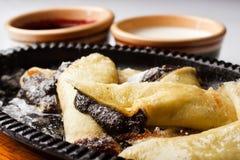 οι τηγανίτες μαρμελάδας & Στοκ Φωτογραφία