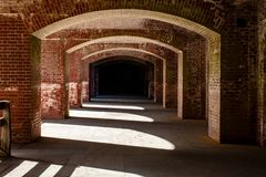 Οι τοίχοι και οι διάδρομοι του σημείου οχυρών στοκ φωτογραφία με δικαίωμα ελεύθερης χρήσης