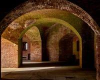 Οι τοίχοι και οι διάδρομοι του σημείου οχυρών στοκ εικόνα