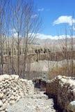 Οι τοίχοι πετρών γύρω από τους κήπους στο ανώτερο μάστανγκ, Νεπάλ Στοκ φωτογραφία με δικαίωμα ελεύθερης χρήσης