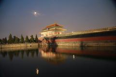Οι τοίχοι του Πεκίνου το αυτοκρατορικό παλάτι στοκ εικόνα