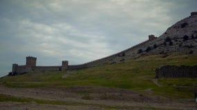 Οι τοίχοι του φρουρίου Genoese απόθεμα βίντεο