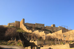 Οι τοίχοι του φρουρίου naryn-Kala Sassanid στην πόλη Derbent, Δημοκρατία του Νταγκεστάν στοκ εικόνα