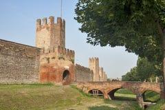 Οι τοίχοι Montagnana (Πάδοβα, Ιταλία) Στοκ Εικόνες