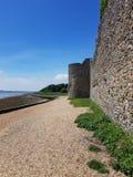 Οι τοίχοι Portchester Castle στοκ εικόνα με δικαίωμα ελεύθερης χρήσης