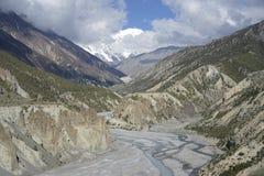 Οι τομείς βουνών στο κύκλωμα Annapurna Στοκ φωτογραφίες με δικαίωμα ελεύθερης χρήσης