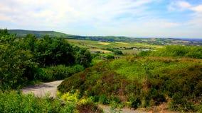 Οι τομείς στη δυτική Πένινα δένουν κοντά σε Darwen στοκ φωτογραφίες