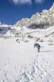 Οι τουρίστες αναρριχήθηκαν στο υψηλότερο σημείο Buryatia Στοκ Φωτογραφίες