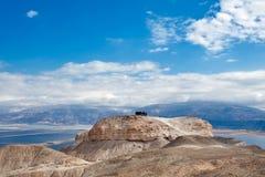 Οι τουρίστες ομάδας στην κορυφή τοποθετούν Sodom στοκ φωτογραφίες