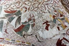 Οι τρεις ιεροί βασιλιάδες Νωπογραφία από το 1400s Στοκ φωτογραφία με δικαίωμα ελεύθερης χρήσης
