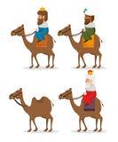 Οι τρεις μαγικοί βασιλιάδες των κινούμενων σχεδίων Ανατολής Στοκ εικόνα με δικαίωμα ελεύθερης χρήσης