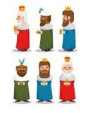 Οι τρεις μαγικοί βασιλιάδες των κινούμενων σχεδίων Ανατολής Στοκ εικόνες με δικαίωμα ελεύθερης χρήσης