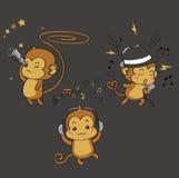 Οι τρεις παράλογοι πίθηκοι Στοκ Εικόνα
