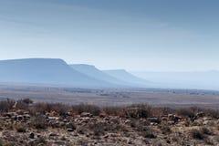 Οι τρεις σκιές βουνών - τοπίο Cradock Στοκ Εικόνα