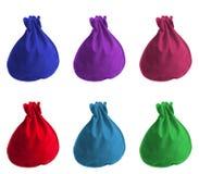 οι τσάντες χρωματίζουν μι& Στοκ Εικόνες