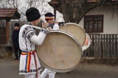 Οι τυμπανιστές στο καρναβάλι στοκ εικόνα