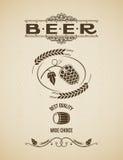 Οι λυκίσκοι μπύρας σχεδιάζουν το εκλεκτής ποιότητας υπόβαθρο Στοκ εικόνα με δικαίωμα ελεύθερης χρήσης