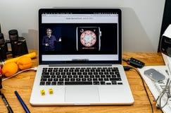 Οι υπολογιστές της Apple στις πιό πρόσφατες ανακοινώσεις WWDC από το Kevin λυντσάρουν το abou Στοκ Εικόνες