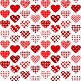 Οι υφαντικές καρδιές με την Πόλκα διαστίζουν άνευ ραφής Στοκ εικόνα με δικαίωμα ελεύθερης χρήσης