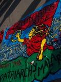 Οι φεμινίστριες αυξάνονται έμβλημα Στοκ Εικόνα