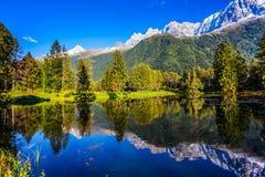 Οι φθινοπωρινές Άλπεις Στοκ Εικόνες