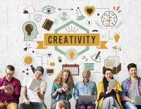 Οι φιλοδοξίες δυνατότητας δημιουργικότητας δημιουργούν την έννοια ανάπτυξης στοκ εικόνα
